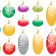 Collection of Christmas Decorations — Stock Vector