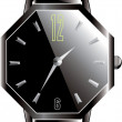 luxe zwarte watch - vector — Stockvector  #12734341