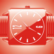 Luxury red watch - vector — Stock Vector