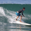 Surfing at El Porto in Manhattan Beach, CA — Stock Photo