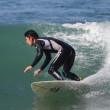 Surfing at El Porto in Manhattan Beach, CA — Stock fotografie