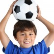 Stock Photo: Boy with Soccer Ball