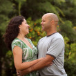 Stock Photo: Happy mixed race couple