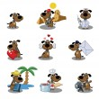 Dogs icons — Vettoriale Stock #12414444