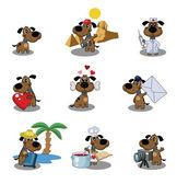 Iconos de perros — Vector de stock