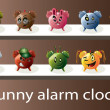 Stock Vector: Funny alarm clocks