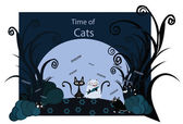 Time of Cats — Vector de stock