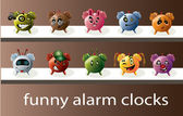 Funny alarm clocks — Vector de stock