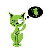 Zombie cat — Stock Vector