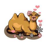 Pocałunek wielbłąda — Wektor stockowy