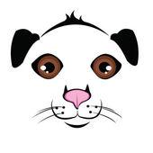 Muzzle Dog — Stock Vector