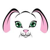 枪口小兔子 — 图库矢量图片