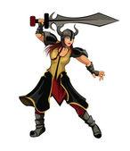 Girl Warrior — Stock Vector
