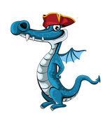 Pirate Dragon — Stock Vector