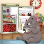 Elephant Glutton — Stock Vector