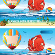 Summer Banner — Stock Vector