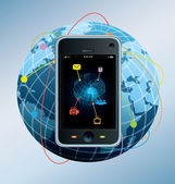мобильный телефон — Cтоковый вектор