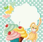 Cake Banner — Stock Vector