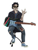 Zombie Rocker — Stock Vector