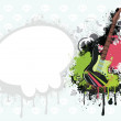 Vector de stock : Background with guitar