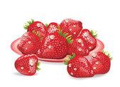 Strawberries — Vetorial Stock