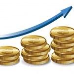 gráfico de dinheiro — Vetorial Stock