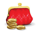 Purse For Money — Stock Vector