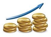 Money Graph — Stock Vector