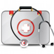 Medical Suitcase With Stethoscope — Stock Vector