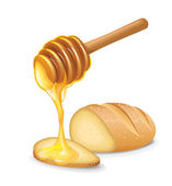 Honey Bread — Stock Vector