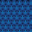 Angry Smiles Background — Vettoriali Stock