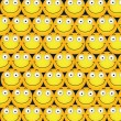Stock Vector: Smileys Background