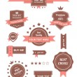 图库矢量图片: Premium Vector set of retro labels