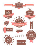 Premium Vector set of retro labels — Vector de stock