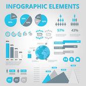 Nastavit prvky infografika — Stock vektor