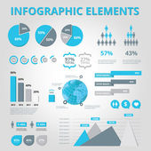 Set elements of infographics — ストックベクタ