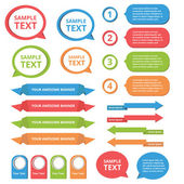 Text box templates — Vector de stock