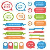 Text rutan mallar — Stockvektor