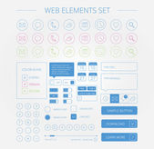 Clean web elements set — ストックベクタ