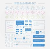 Conjunto de elementos web limpio — Vector de stock