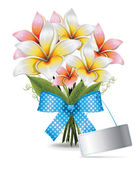Bouquet Lilies — Stock Vector