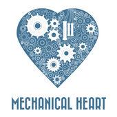Mechanical heart — Stock Vector