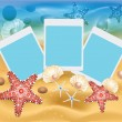 Stock Vector: Beach Photos