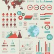 Vector de stock : Set elements of infographics World Map and Information Graphics