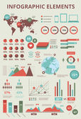 Definir elementos de infografia, gráficos de mapa e informações do mundo — Vetorial Stock