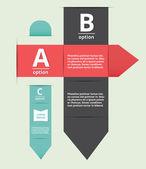 Letras de estilo moderno opciones banner — Vector de stock