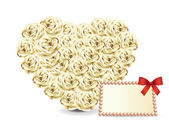 Heart roses card — Stock Vector