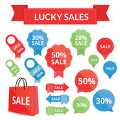 Lucky sales set — Stock Vector