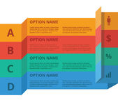 Flat options set — Stock Vector