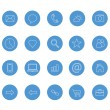 Clean icons set blue — Stok Vektör